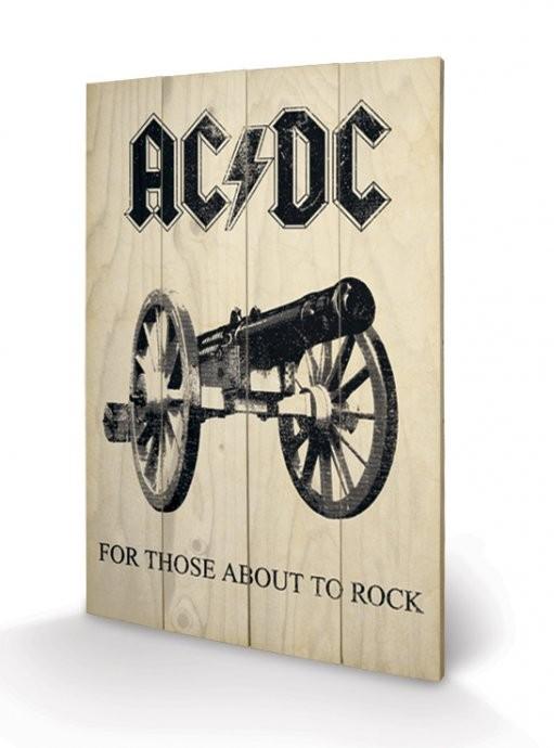 Obraz na dřevě - AC-DC - For Those About to Rock