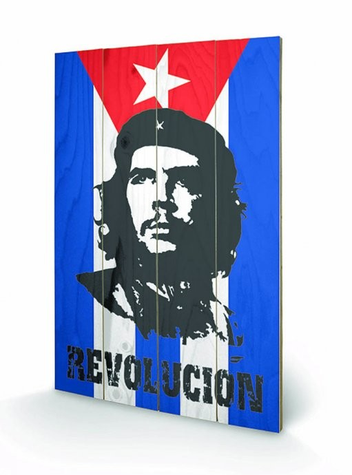 Obraz na dřevě - CHE GUEVARA - flag