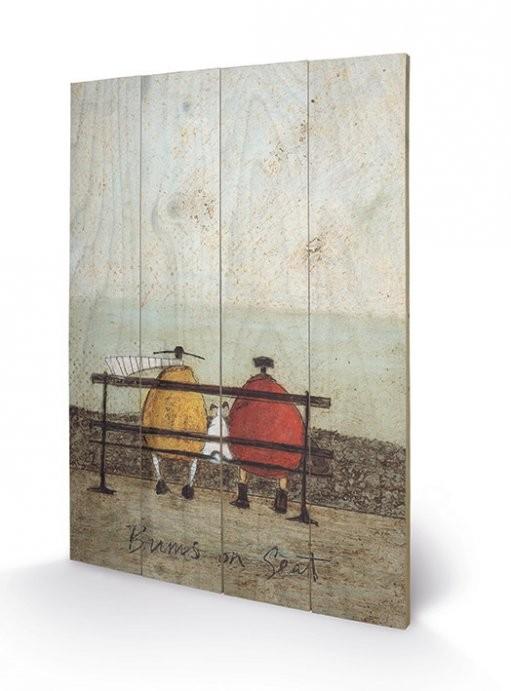 Obraz na dřevě - Sam Toft - Bums on Seat
