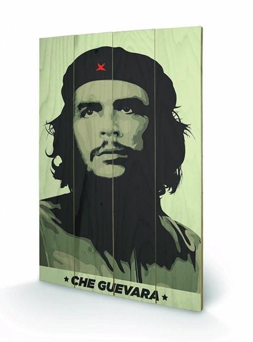 Obraz na dřevě - Che Guevara - Khaki Green