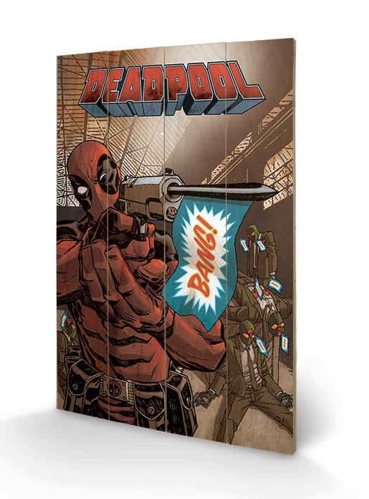 Obraz na dřevě - Deadpool - Bang