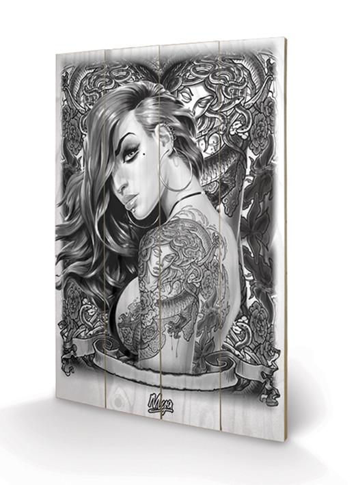 Obraz na dřevě  Mya - Tattoo