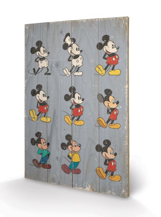 Obraz na dřevě  Myšák Mickey (Mickey Mouse) - Evolution