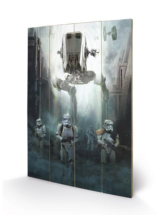 Obraz na dřevě  Rogue One: Star Wars Story - Stormtrooper Patrol