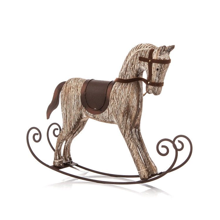 Wooden Rocking Horse, 23 cm Home Decor