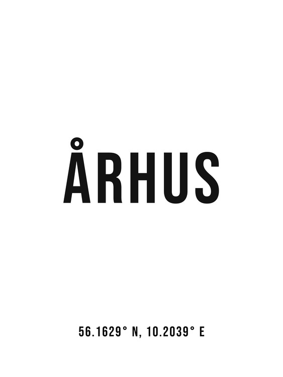 xудожня фотографія Aarhus simple coordinates