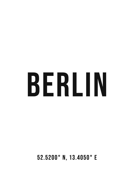 xудожня фотографія Berlin simple coordinates