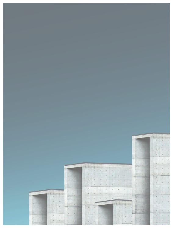 xудожня фотографія Border cement buildings
