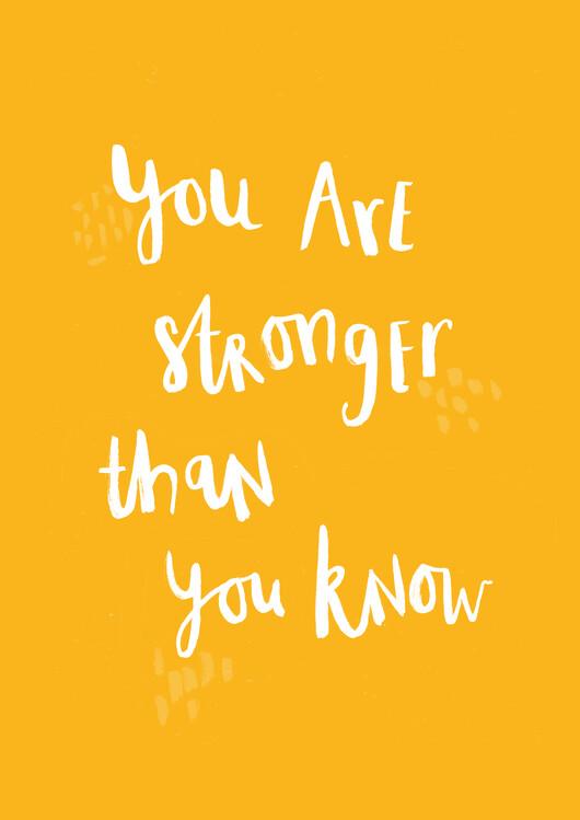 xудожня фотографія You are stronger than you know