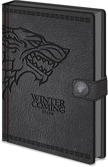 Zápisník Hra o Trůny (Game of Thrones) - Stark Clasp Premium