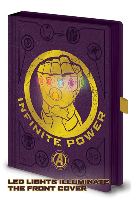 Avengers: Infinity War - Gauntlet LED Zápisník