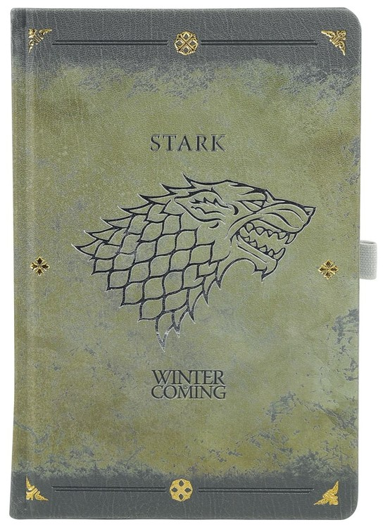 Game Of Thrones - Stark Worn Premium Zápisník