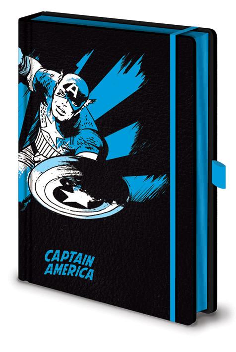 Marvel Retro - Captain America Mono Premium Zápisník