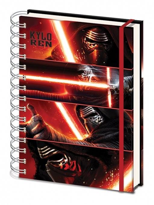 Zápisník Star Wars VII: Síla se probouzí - Kylo Ren Panels A4