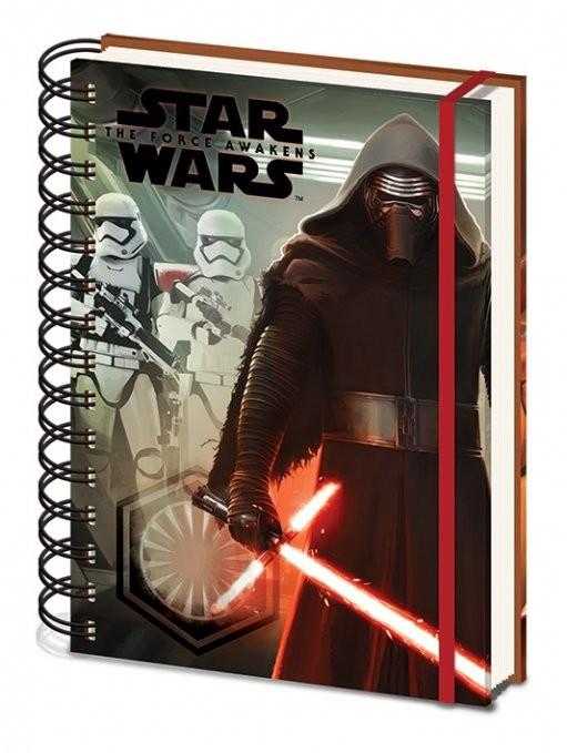Star Wars VII: Síla se probouzí - Kylo Ren & Troopers A5  Zápisník
