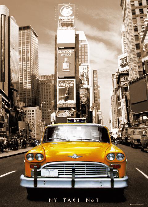 Rámovaný plakát New York taxi no. 1
