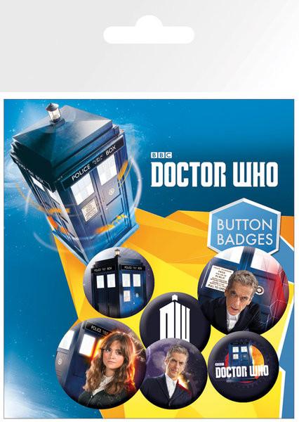 Komplet značk Doctor Who - New