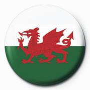 FLAG - WALES Značka
