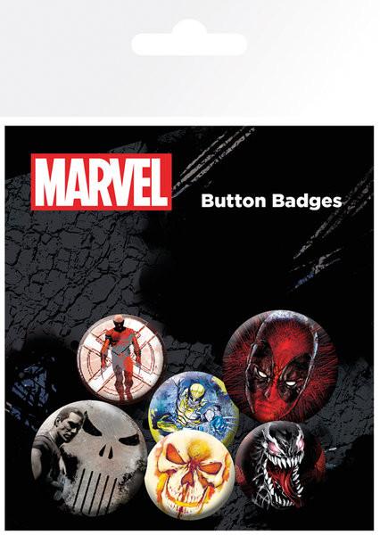 Komplet značk Marvel Extreme - Mix