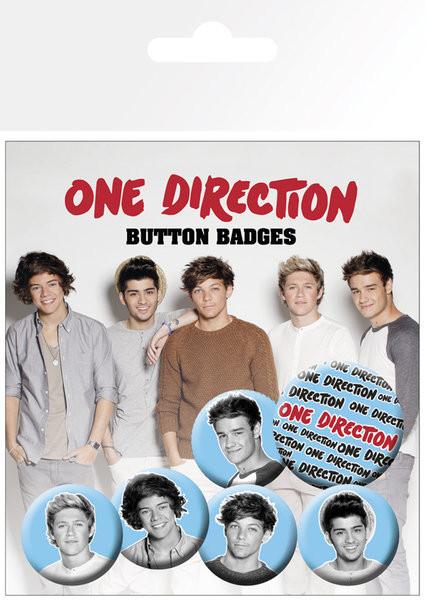Komplet značk One Direction (B&W)