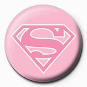 SUPERMAN - logo/pink Značka