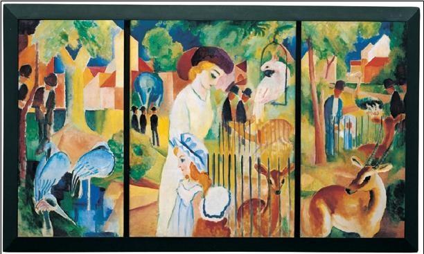 Zoological Garden, 1914 Reproduction d'art
