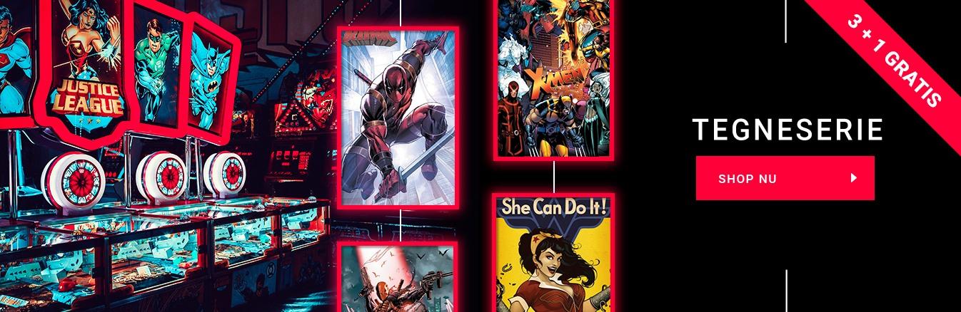 tegneserie plakater