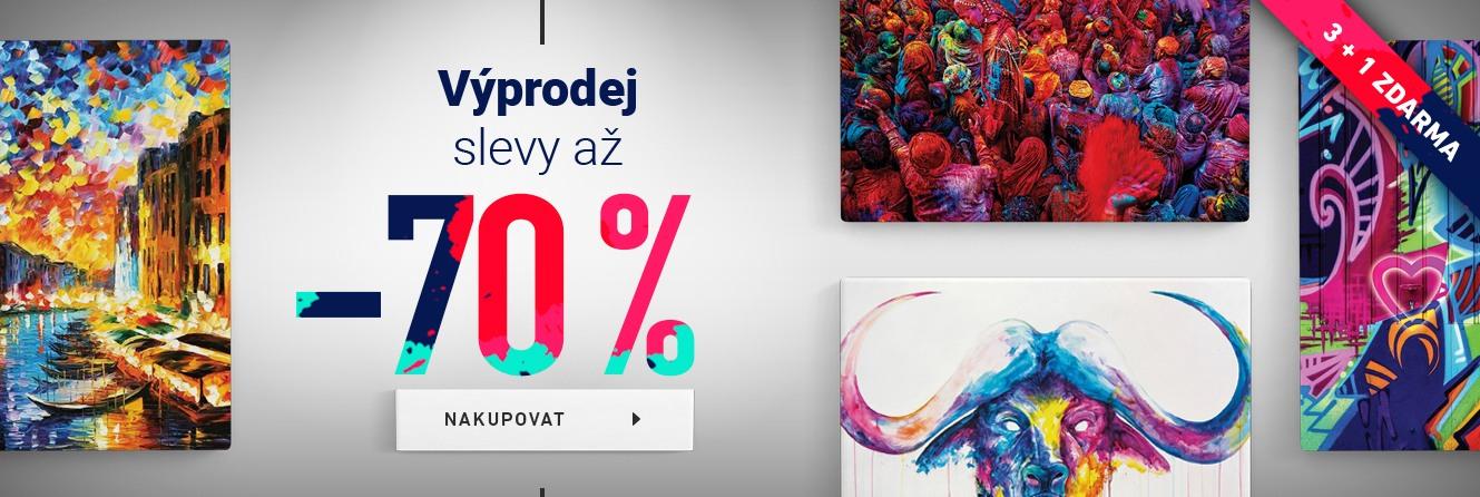 Výprodej<br />slevy až 70 %